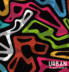 Urban colorful background vector