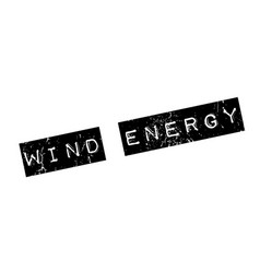 Wind energy rubber stamp vector