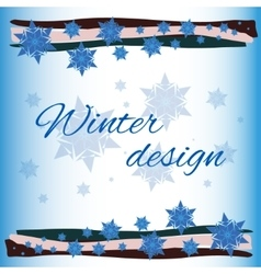 winter card background vector image vector image