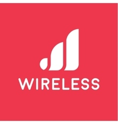 Wireless network logo for business flat style vector