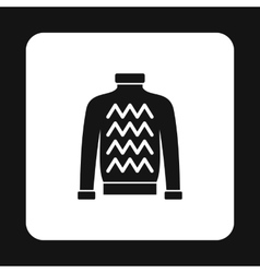 Mens sweater icon simple style vector