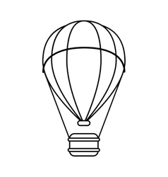 Isolated hot air balloon design vector