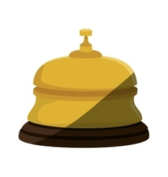 Reception hotel ring isolated icon vector