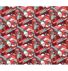 Seamless isometric blocks cubic city vector