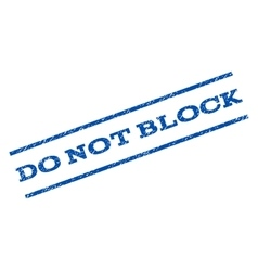 Do not block watermark stamp vector