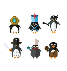 Penguin animal character vector