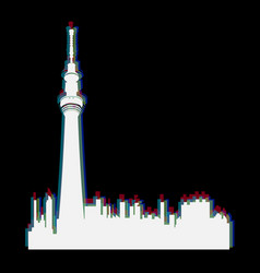 isolated toronto cityscape vector image