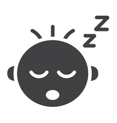 Baby boy sleep solid icon child and infant vector