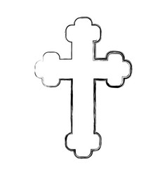 Religious cross icon vector