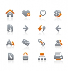 Web navigation icons vector