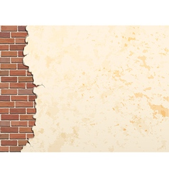 Concrete wall and brick 380 vector