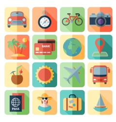 Traveling and transport icons for web mobile app vector