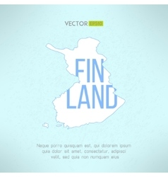 Finland map in vintage design finnish vector
