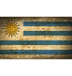 Flags uruguay with dirty paper texture vector