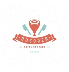 Butcher shop design element vector