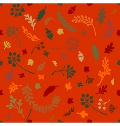 Pattern of leaves and plants vector