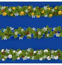 Christmas borders set 2 vector