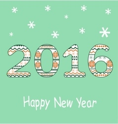 New year 2016 decoration vector