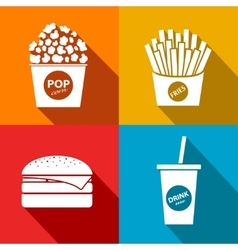 Fast food icon eps10 vector