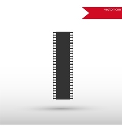 Film strip black icon and jpg flat style vector