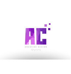 Ac a c pink alphabet letter logo combination with vector