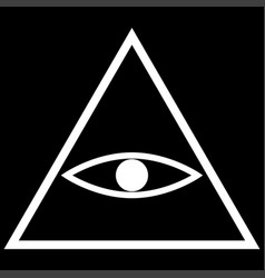 All seeing eye symbol the white color icon vector