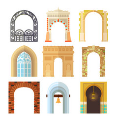 arch design architecture construction frame vector image vector image