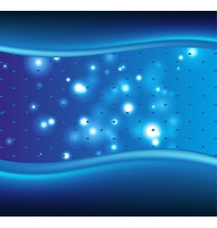 Blue dot background with waves vector