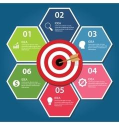 Business target infographic dart board arrow vector