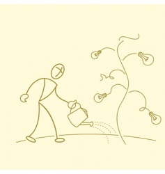 businessman gardening vector image