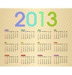 calendar 2013 5 vector image