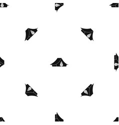 Camping tent pattern seamless black vector