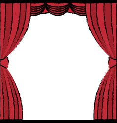 courtain theater isolated icon vector image vector image