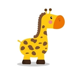 Cute giraffe baby icon vector