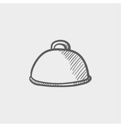 Food cover sketch icon vector