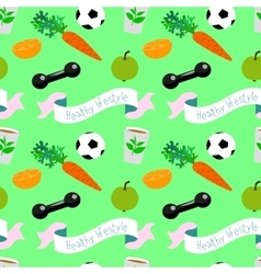 Healthy lifestyle seamless pattern vector