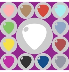 icons guitar pick vector image