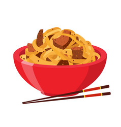 Japanese chinese noodles ramen foodasian noodle vector