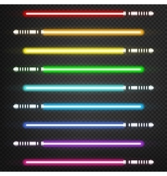 Light swords set vector image