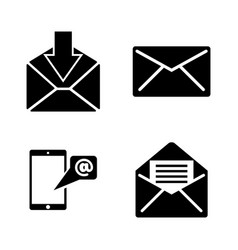 mail simple related icons vector image
