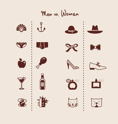 man and woman symbols icons vector image vector image