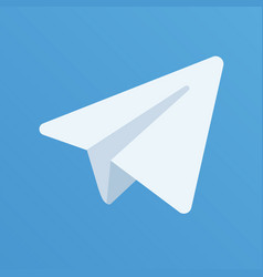 paper aircraft logo on the blue background vector image