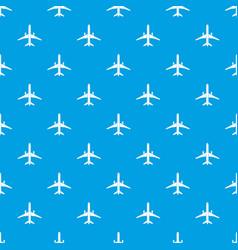 Plane pattern seamless blue vector