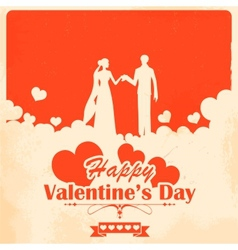 Retro Love Background vector image