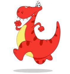 running dinosaur vector image vector image