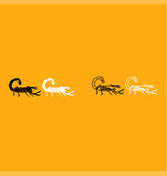 scorpion it is white icon vector image vector image