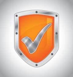Security shield with check mark vector image