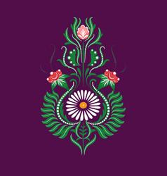 slavic folk traditional floral ornament vector image