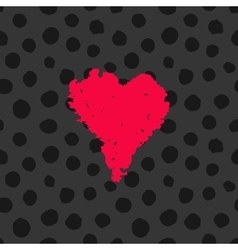 Valentine hand drawn card vector image vector image