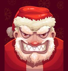 Very bad santa face vector